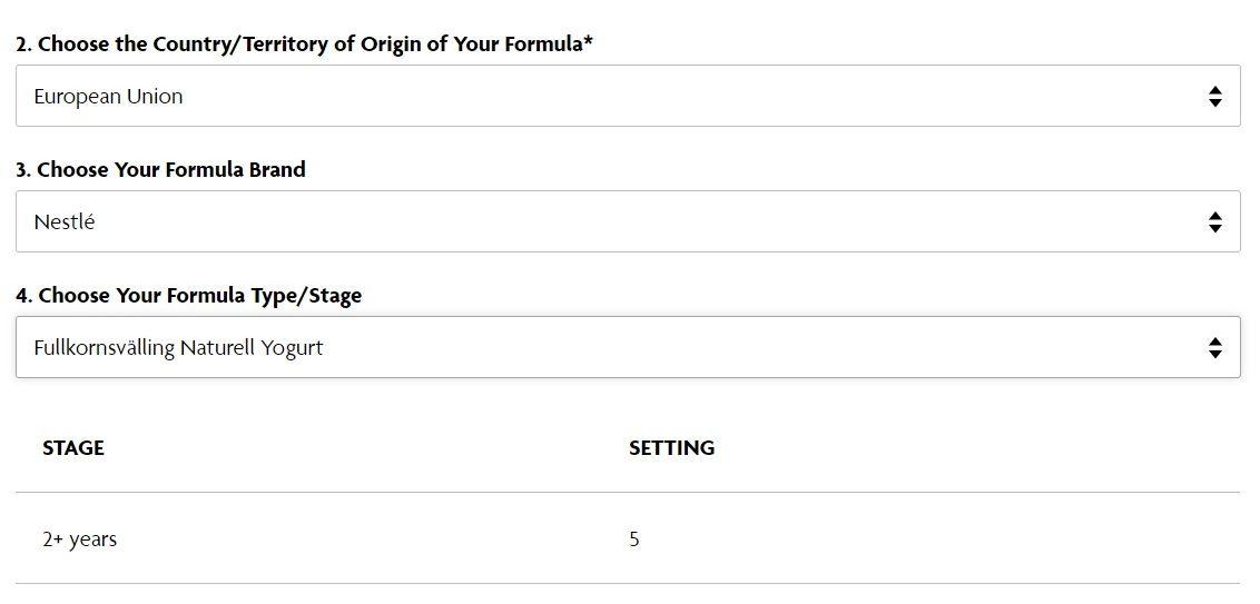 Fullkornsvälling Naturell Yogurt espressor Formula Pro Advanced