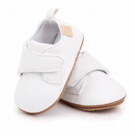 Pantofiori albi cu bareta cu arici MBD2587-6-p4.9-12 luni (Marimea 20 incaltaminte)