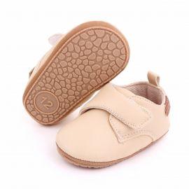 Pantofiori crem cu bareta cu arici MBD2587-5-p8.3-6 luni (Marimea 18 incaltaminte)