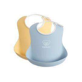 BabyBjorn - Set 2 bavete, Powder Yellow/ Powder Blue BSAFE046341A