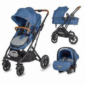 Carucior 3in1 ultracompact Coccolle Ravello Navy Blue SMB320061032