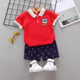 Costum cu tricou rosu - Bear (Marime Disponibila: 9-12 luni (Marimea 20 incaltaminte)) LIW-152-4