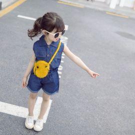 Costumas din blug subtire pentru fetite (Marime Disponibila: 9-12 luni (Marimea 20 incaltaminte)) MBW-060