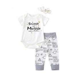 Costumas pentru fetite - Snuggle this Muggle (Marime Disponibila: 3-6 luni (Marimea 18 incaltaminte)) LI44565