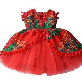 Rochita Red Diva cu maneca scurta (Marime Disponibila: 0-3 luni) F016-MS