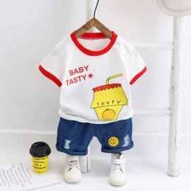 Costum pentru baietei - Baby tasty (Marime Disponibila: 3-6 luni (Marimea 18 incaltaminte)) MDW-116-2