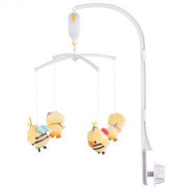 Carusel muzical pentru patut Chipolino Duck HUBMILR02102DCK