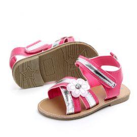"""""""Sandale fetite roz ciclame cu argintiu (Marime Disponibila: 9-12 luni (Marimea 20 incaltaminte))"""" MDD2118-2-p24"""