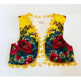 Vestuta accesorizata cu ciucurei - Yellow Diva (Marime Disponibila: 7-8 ani),F05-Vesta-C