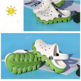 Papuci din cauciuc albi cu verde pentru copii (Marime Disponibila: Marimea 34) LIdw990-16