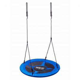 Leagan tip cuib pentru copii XXL, 95 cm, 150 kg, Neo-Sport 1000, Albastru EDEEDI1000