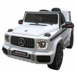 Masinuta electrica cu telecomanda, roti EVA, scaun piele Mercedes G63 - Alb EDEEDIBBH-0002ALB