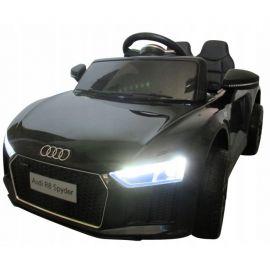 Masinuta electrica cu telecomanda, roti EVA, scaun piele Audi R8 R-Sport - Negru EDEEDIR8ELNEGRU