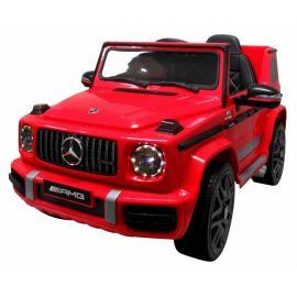 Masinuta electrica cu telecomanda, roti EVA, scaun piele Mercedes G63 - Rosu EDEEDIBBH-0002ROSU