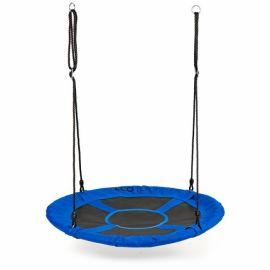 Leagan pentru copii rotund, tip cuib de barza, suspendat, 100 cm, Ecotoys MIR6001 - Albastru EDEEDIMIR6001BLUE
