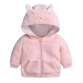 Hanorac roz pentru fetite - Pisicuta (Marime Disponibila: 0-3 luni) ADFSB55-1